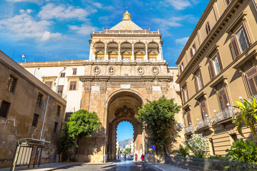 Aluminium Prints Palermo The gate of Porto Nuovo in Palermo