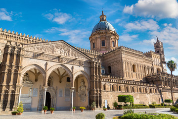 La pose en embrasure Palerme Palermo Cathedral in Palermo