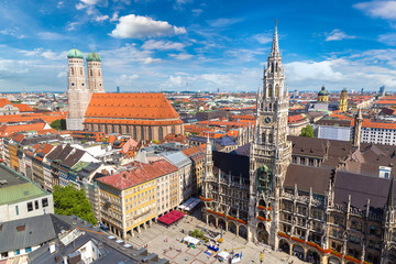 Panoramic view of Munich, Germany