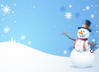Snow Man Scene