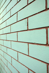 Brick Wall Green Color Texture or Background Great For Any Use.