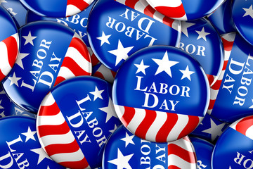 Labor day button background