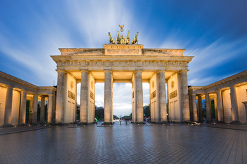 Brandenburg gate or Brandenburger Tor in Berlin, Germany at night