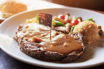 Breakfast VIP beef steak import form australia.