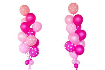 Fantasy pink balloons.