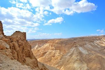 Ruins of fortress Masada, Israel