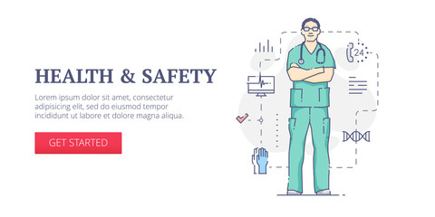 Health & safety web banner