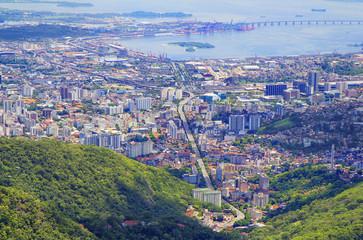 Бразилия. Рио де Жанейро. Вид с горы Корковадо.