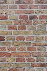 orange and brown brick wall texture