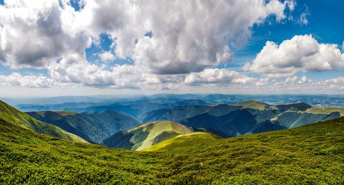 mountain ridge on a cloudy day