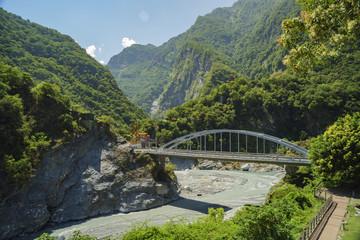 The temple and bridge of Tpedu area
