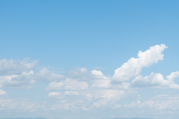 Empty blue sky and white cloud for background.