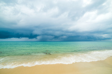 ocean wave and sandy beach