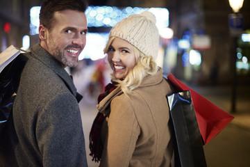 Mature couple preparing for winter season