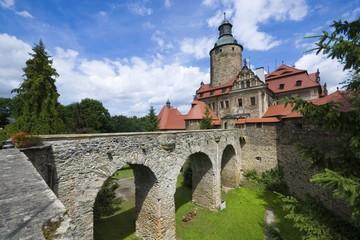 Medieval defensive Czocha castle in Lesna, Poland