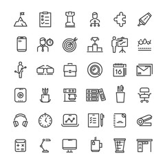 Office and time management icons collection