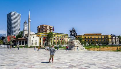 Skanderberg Square. Tirana, Albania