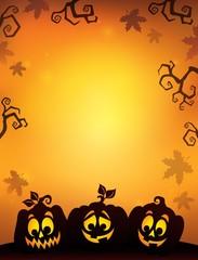 Pumpkin silhouettes theme image 8