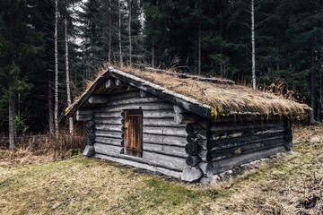 Old half timbered Lodge in Norberg Sweden