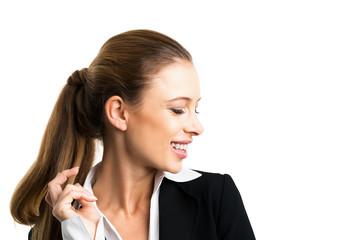 junge lächelnde Geschäftsfrau