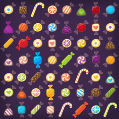 Colorful candy set