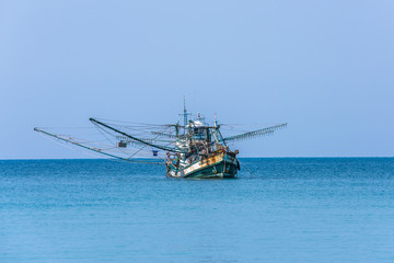 Traditional thai fishing boat, Koh Kood island, Thailand