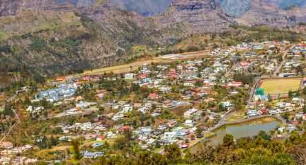 village de Cilaos, île de la Réunion