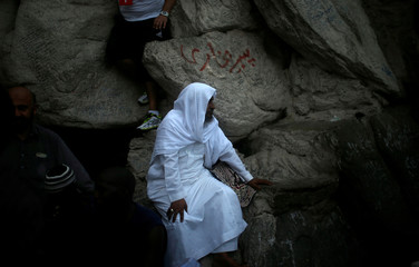 Muslim pilgrims visit the Hera cave in the holy city of Mecca