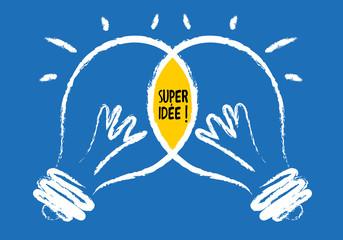 idée - concept - coopération - créatif - partenariat - ampoule - partenaire
