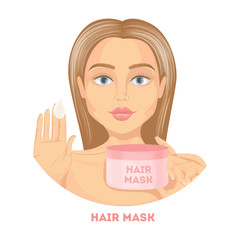 Woman with hair mask.
