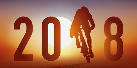 2018 - cyclisme - carte de vœux - compétition -sport - année