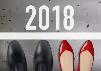 2018 - entreprise - réussite - succès - concurrence - ligne de départ - égalité