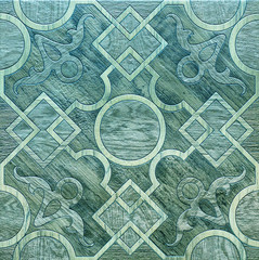 Wall Mural - Ceramic, marble tiles with an abstract mosaic pattern for interior decoration