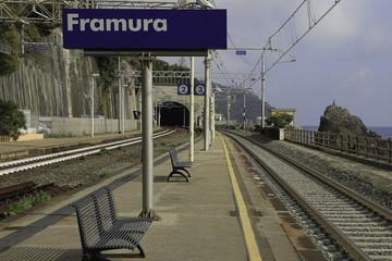 Aluminium Prints Train Station Framura Train Station Quay