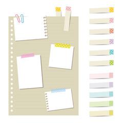 付箋とメモ用紙 / vector eps 10