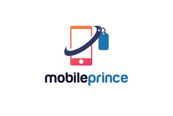 Mobile Price Logo Template Design Vector, Emblem, Design Concept, Creative Symbol, Icon