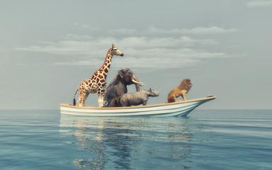 The wild animals
