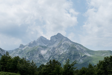 Great view of Mountain Komovi in Montenegro.