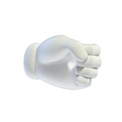 Cartoon hands set - - hand grip gesture 3d rendering