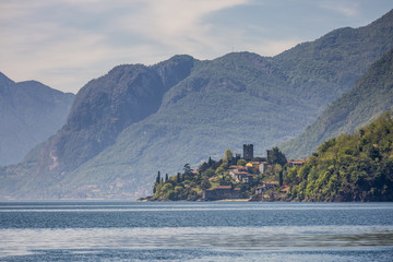 The little village of San SIro on the shores of Lake Como. Lombardy, Italy.