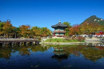 韓国 ソウル 景福宮 香遠亭 Korea Seoul Gyeongbokgung