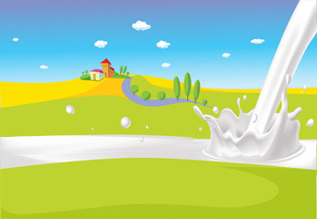 milk splash pour milk designwith grass