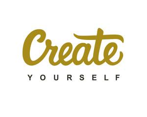 Create Yourself modern calligraphy