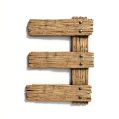 Wood font, plank font number 3