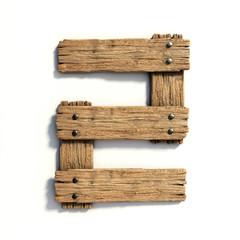 Wood font, plank font number 2