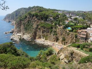 Cala de Tossa de mar en Girona