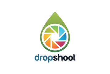 Drop Shoot Logo Template Design Vector, Emblem, Design Concept, Creative Symbol, Icon