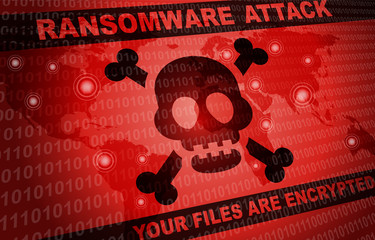 Ransomware Attack Malware Hacker Around The World Background