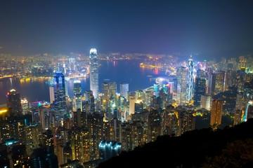 香港 ビクトリアピーク 遊歩道からの夜景 Hongkong Nightview