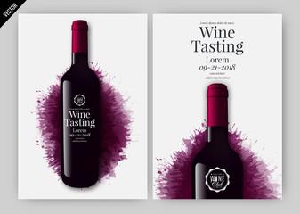 Idea for wine design, product presentation or wine tasting.